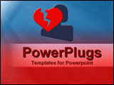 PowerPoint Template - Broken heart