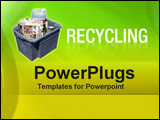 PowerPoint Template - recycling bin