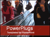 PowerPoint Template - Escalator action