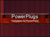 PowerPoint Template - Patterns in Red
