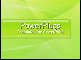 PowerPoint Template - Lime Ribbons