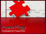 PowerPoint Template - Red puzzle piece.
