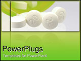PowerPoint Template - White pills.