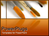 PowerPoint Template - Zoom on paintbrushes.