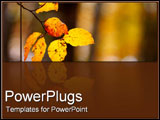 PowerPoint Template - Autumn yellow leaves.