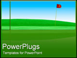 PowerPoint Template - Golf course green field.