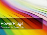 PowerPoint Template - Abstract rainbow colors.
