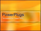 PowerPoint Template - Golden orange abstract.