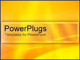 PowerPoint Template - Sunbeam effect on yellow.