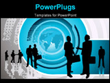 PowerPoint Template - A group of professionals with the world in the background
