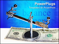 PowerPoint Template - The balancing act of a business relationship
