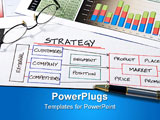 PowerPoint Template - Business strategy organizational charts and graphs for success