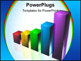PowerPoint Template - 3D Business Graph, Showing an Upward Trend