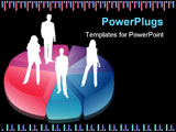 PowerPoint Template - Vector illustration of business people and graphs.