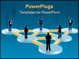 PowerPoint Template - People in the organization chart conceptual business illustration.