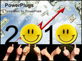 PowerPoint Template - happy new year 2010 with business growth.