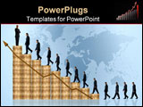 PowerPoint Template - business growth and success graph with a businessman walking up the graph