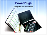 PowerPoint Template - image showing financial analysis