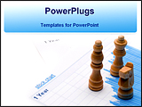 PowerPoint Template - chess with stock papers