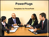 PowerPoint Template - persons attend a meeting