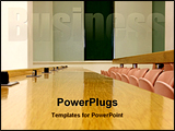 PowerPoint Template - image of a conference room
