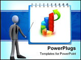 PowerPoint Template - 3d business person showing a clipboard .