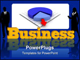 PowerPoint Template - Advertising of business on a blue background