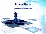 PowerPoint Template - chess strategy game queen 3d 3D chessboard
