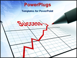 PowerPoint Template - Pen with schedule represents strategy of success