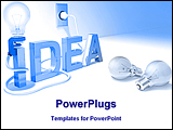 PowerPoint Template - concept of good idea of Brainstorm Brain Head Mind Bright idea