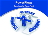 PowerPoint Template - leadership concept illustration for success and teamwork