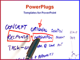 PowerPoint Template - business planning session on flip chart