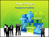 PowerPoint Template - an illustrative image of business people