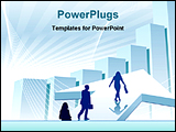 PowerPoint Template - illustrated image showing group of business people