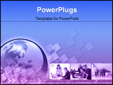 PowerPoint Template - Collage of business pictures with animated background