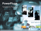PowerPoint Template - Technology background with business collage