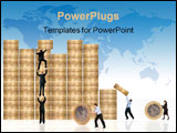 PowerPoint Template - business financial environment with businessmen around