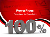 PowerPoint Template - The image represents discount - 100 %