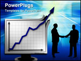 PowerPoint Template - abstract graph image symbolising extreme business success