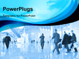 PowerPoint Template - people in business center