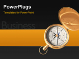 PowerPoint Template - Compass and business sign close up shot