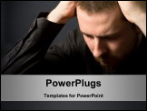 PowerPoint Template - Frustrated businessman - business failure concept (or just a headache)