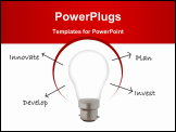 PowerPoint Template - Sketched words emerging from a light bulb