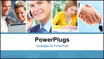 PowerPoint Template - Business people. Businessmen and business women. Finance