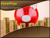 PowerPoint Template - Piggy bank in business concept