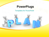 PowerPoint Template - 3d people - man person and word  plan .