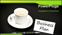 PowerPoint Template - Message and cup of coffee on black