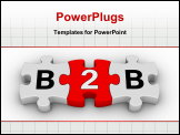 PowerPoint Template - business to business jigsaw puzzle symbol