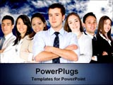 PowerPoint Template - businessmen and woman leaders