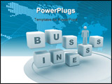 PowerPoint Template - computer rendered image of business and cubes
